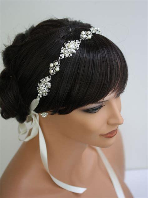 Wedding Hair Accessories Ribbon Headband by Best 25 Bridal Headbands Ideas On Pearl