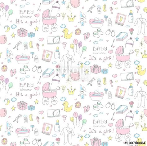 Baby Shower Background Clipart by Quot Seamless Background Of Baby Shower Vector Illustration