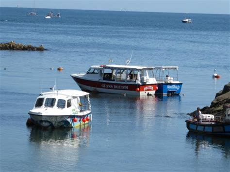 glass bottom boat uk sailing past looe island picture of boatzer glass bottom