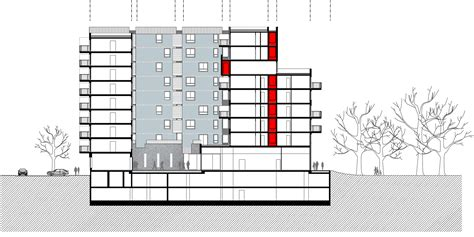 residential building section gallery of savica business residential building studio