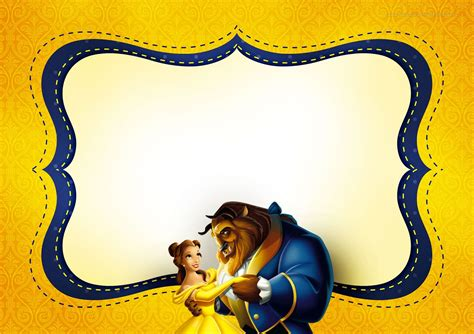 Printable And The Beast Birthday Cards