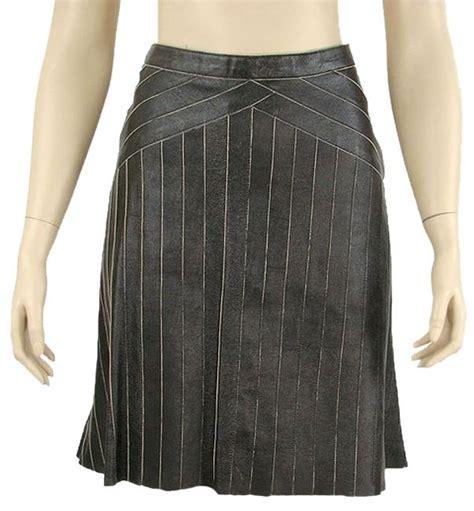 prada black leather skirt 64 retail