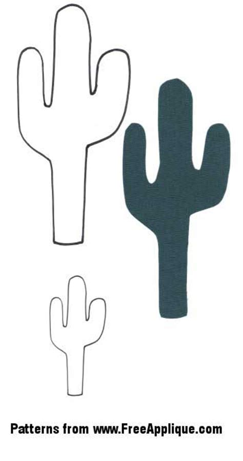 cactus template southwest patterns for applique cactus guitar boots