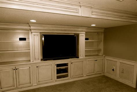 Family Heating And Cooling Garden City - custom built in entertainment center traditional home theater kansas city by kc basement