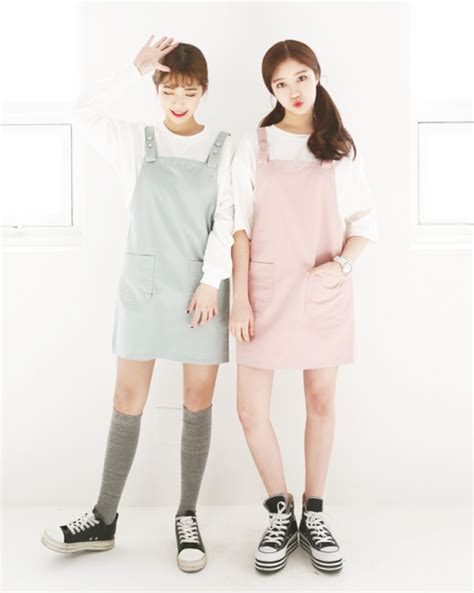 pastel overall dress
