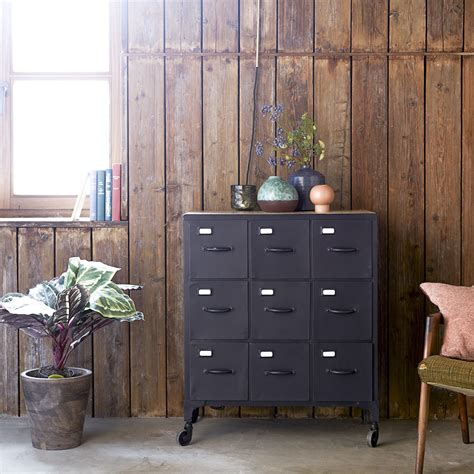 commode 9 tiroirs commode en metal vente commodes 9 tiroirs style