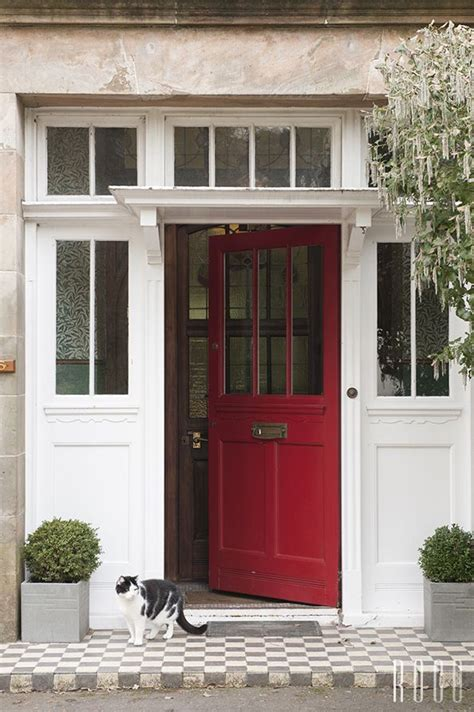 red front doors red front door casual cottage