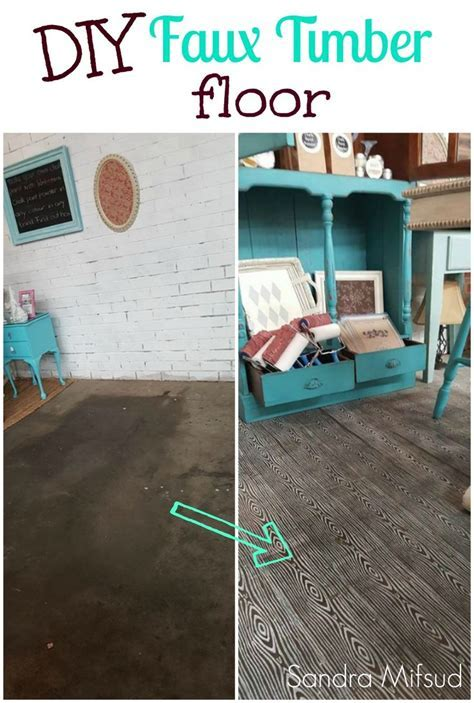 HOW TO STENCIL CONCRETE FLOORS WITH CHALK PAINT   Floors