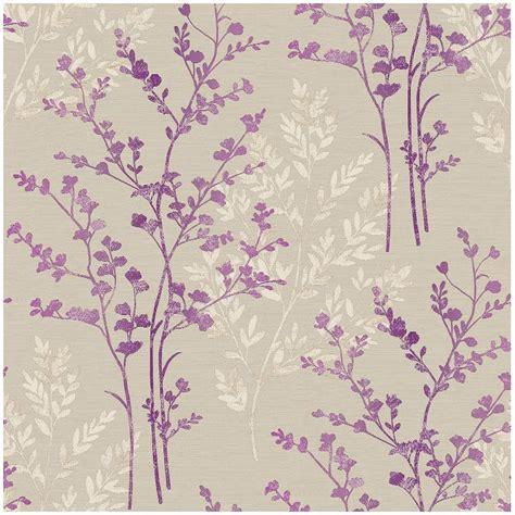 colours cocktail plum floral wallpaper departments diy b m gt arthouse imagine fern plum motif vinyl wallpaper