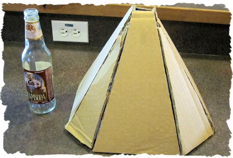 How To Make A Volcano Out Of Paper - eclectic nut paper mache volcano