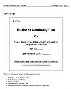 continuity template 7 business continuity plan templates word excel pdf