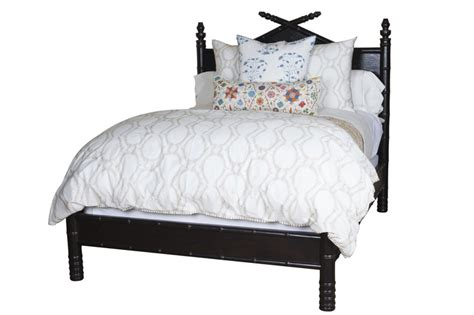 3 4 bed headboard faux bamboo wrap around bed in ebony bedrooms