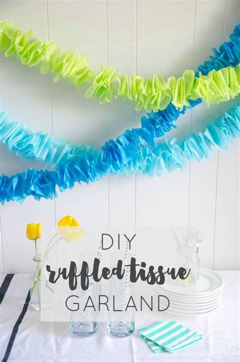 Birthday Decorations With Crepe Paper by Diy Ruffled Tissue Garland Streamers Tissue Paper And