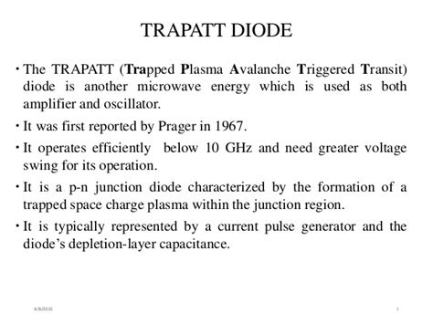 what is trapatt diode trapatt diode