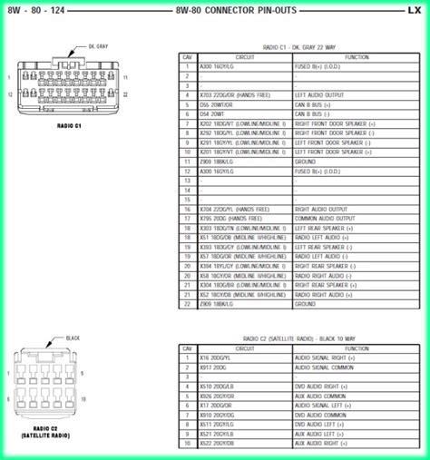 2008 chrysler radio wiring diagram wiring diagram with