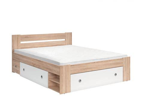 Bed Guhdo 160 X 200 bed stefan 160 x 200 oak sonoma white 495 95