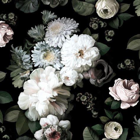 dark wallpaper with flowers dark floral wallpaper by ellie cashman design