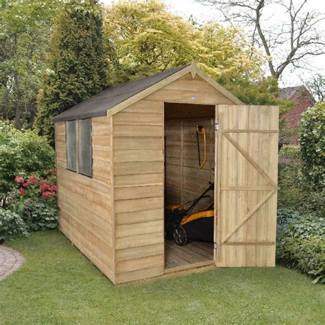 Garden Sheds 8x6 by Forest Overlap Pressure Treated Apex Shed 8x6 Elbec