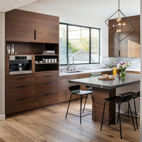 modern walnut kitchen cabinets vallandi com design and modern open concept kitchen infused with wood walnut