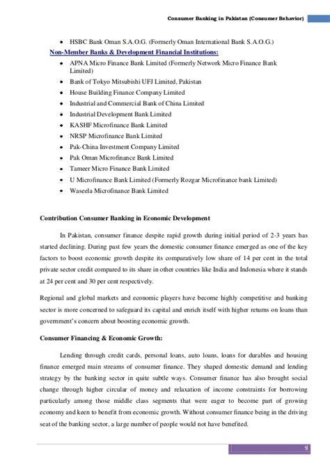 consumer bank consumer banking in pakistan