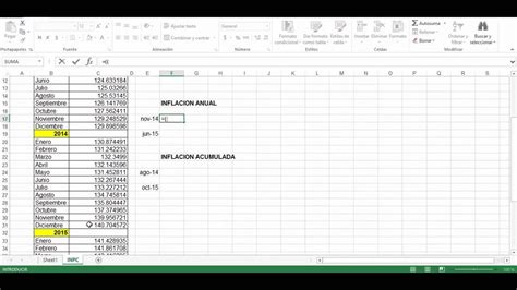 como calcular recargos y actualizaciones 2016 c 243 mo calcular la inflaci 243 n f 225 cil y r 225 pido youtube