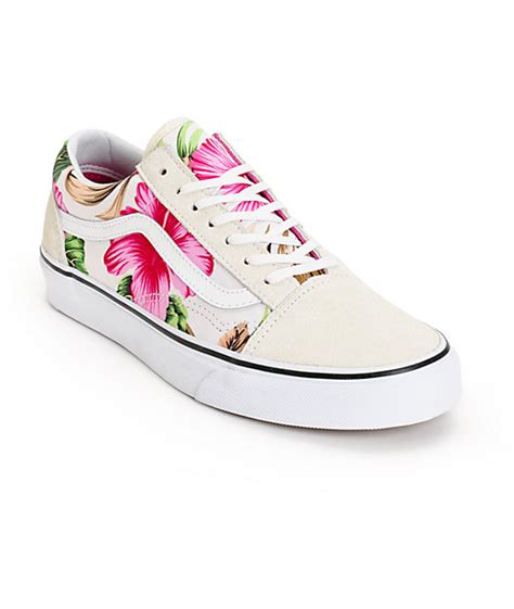 Vans Skool Flower vans skool hawaiian floral shoes womens at zumiez pdp