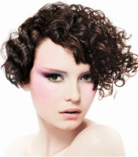 curly plunging bob with a short back angled bob curly plunging bob short hairstyle 2013