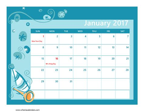 january calendar template january 2017 calendar printable with holidays weekly