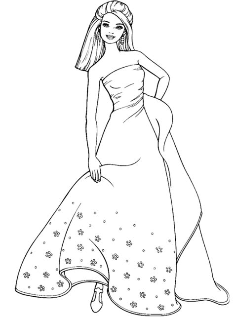 free barbie wedding dress coloring pages