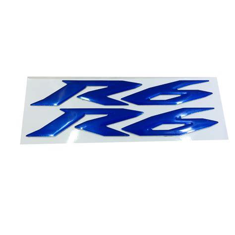 Emblem Stiker Timbul Logo Garputala Yamaha blue motorcycle emblem badge decal 3d tank wheel logo for yamaha yzf600 r6 sticker in decals
