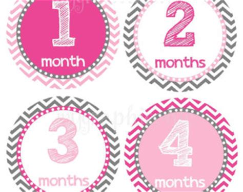 Wall Stickers Etsy sale baby girl monthly sticker or cards blush pink gold