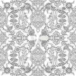 fliese floral fliese orientalischen floral nahtlose doodle ethnischer