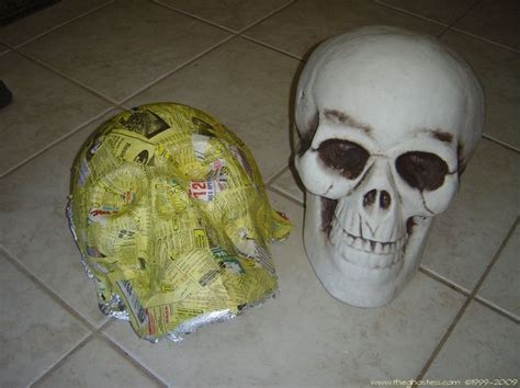 How To Make Paper Mache Skull - step by step on recreating a skull out of