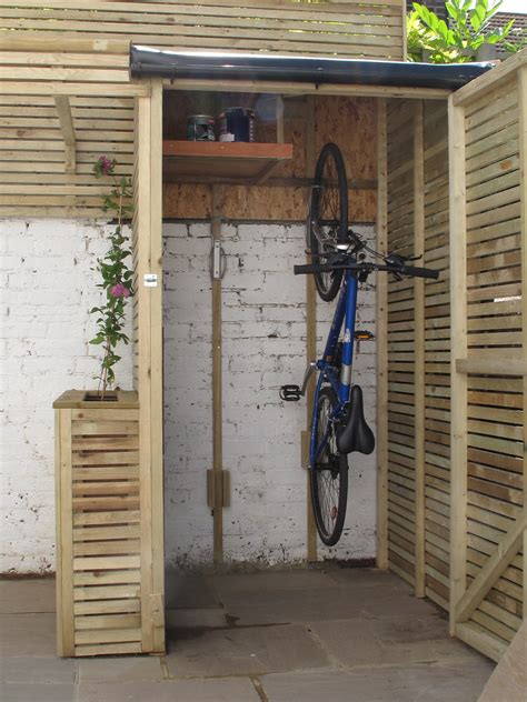 Small Garden Storage Ideas Creative Driveway Bike Storage Ideas