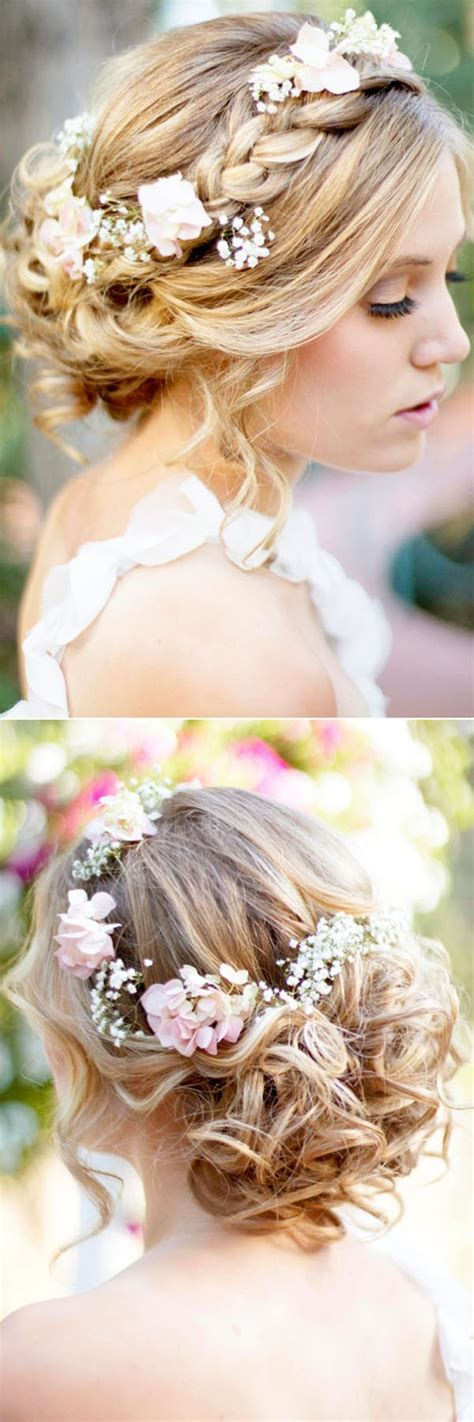 hairstyles decorated with flowers 18 trending wedding hairstyles with flowers oh best day ever