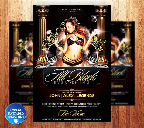 design birthday flyer birthday all black flyer template by grandelelo on