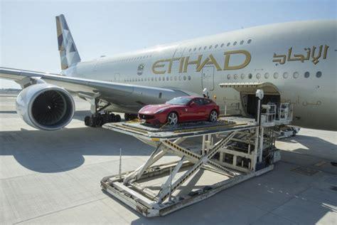 etihad launches luxury car cargo service for summer transport air cargo cargo plane etihad