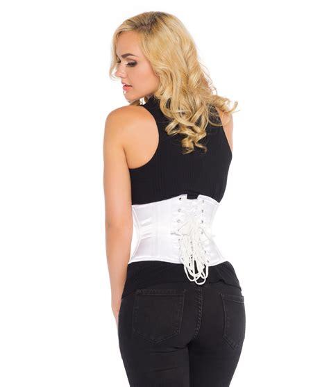 Satin Corset white satin corset white underbust corset