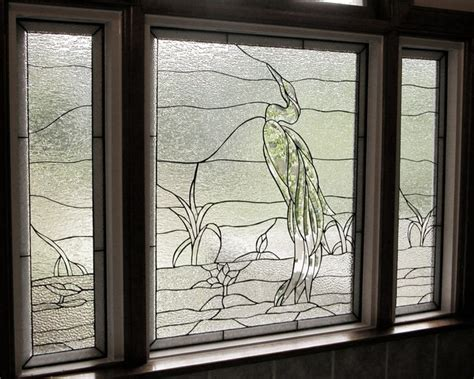 Decorative Window Panels by Heron Rhody Less Color Craftsman Stained Glass