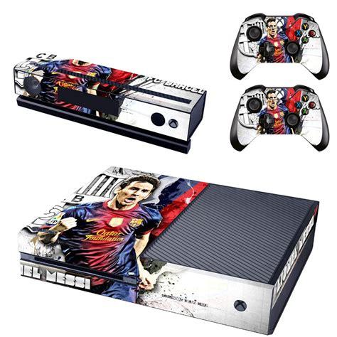 barcelona xbox one skin lionel messi fc barcelona design by video games design