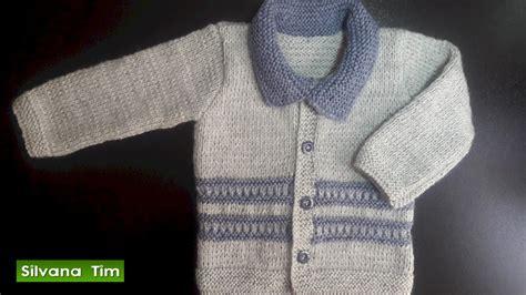 como tejer chambritas para bebe dos agujas chambrita chaqueta jersey para bebes tejido con dos