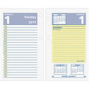 At A Glance Desk Calendar by At A Glance Quicknotes Daily Desk Calendar Refill