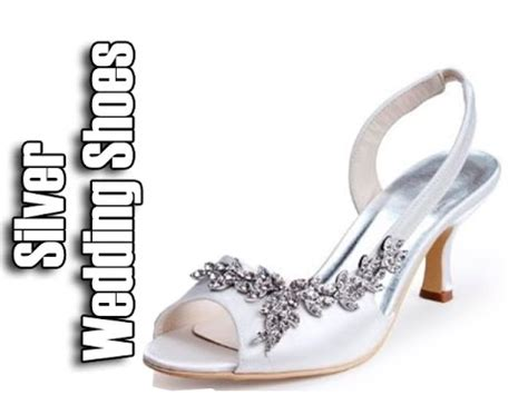 Silberne Hochzeitsschuhe by Silver Wedding Shoes Low Heel Wedding Shoes