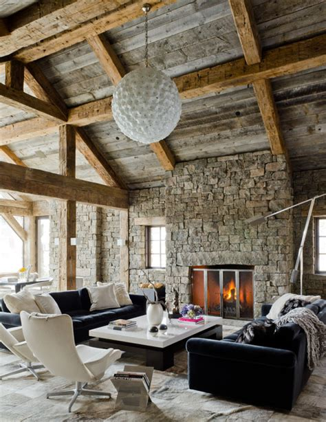 defining elements of the modern rustic home rustic redux rustic living room by on site