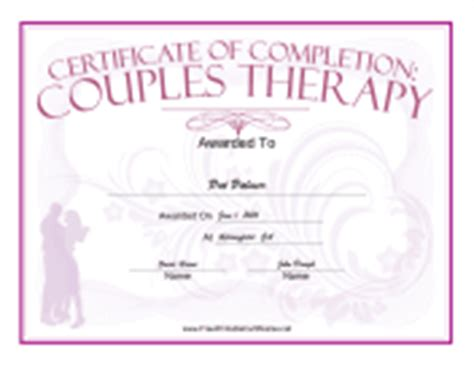 Newest Additions Free Printable Certificates Free Premarital Counseling Certificate Of Completion Template