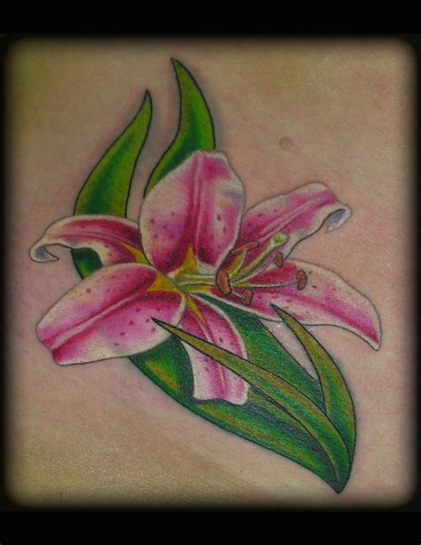 stargazer lily tattoo small stargazer by aaron goolsby tattoos