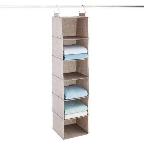 hanging organizer grey 6 compartment hanging sweater organizer the