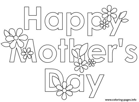 crayola coloring pages mothers day happy mothers day flowers cute coloring pages printable