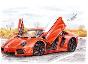 Lamborghini Aventador Drawing Lamborghini Aventador Draw By Renanluigi On Deviantart