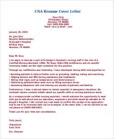 cover letter for cna position sle cna resume 9 exles in word pdf